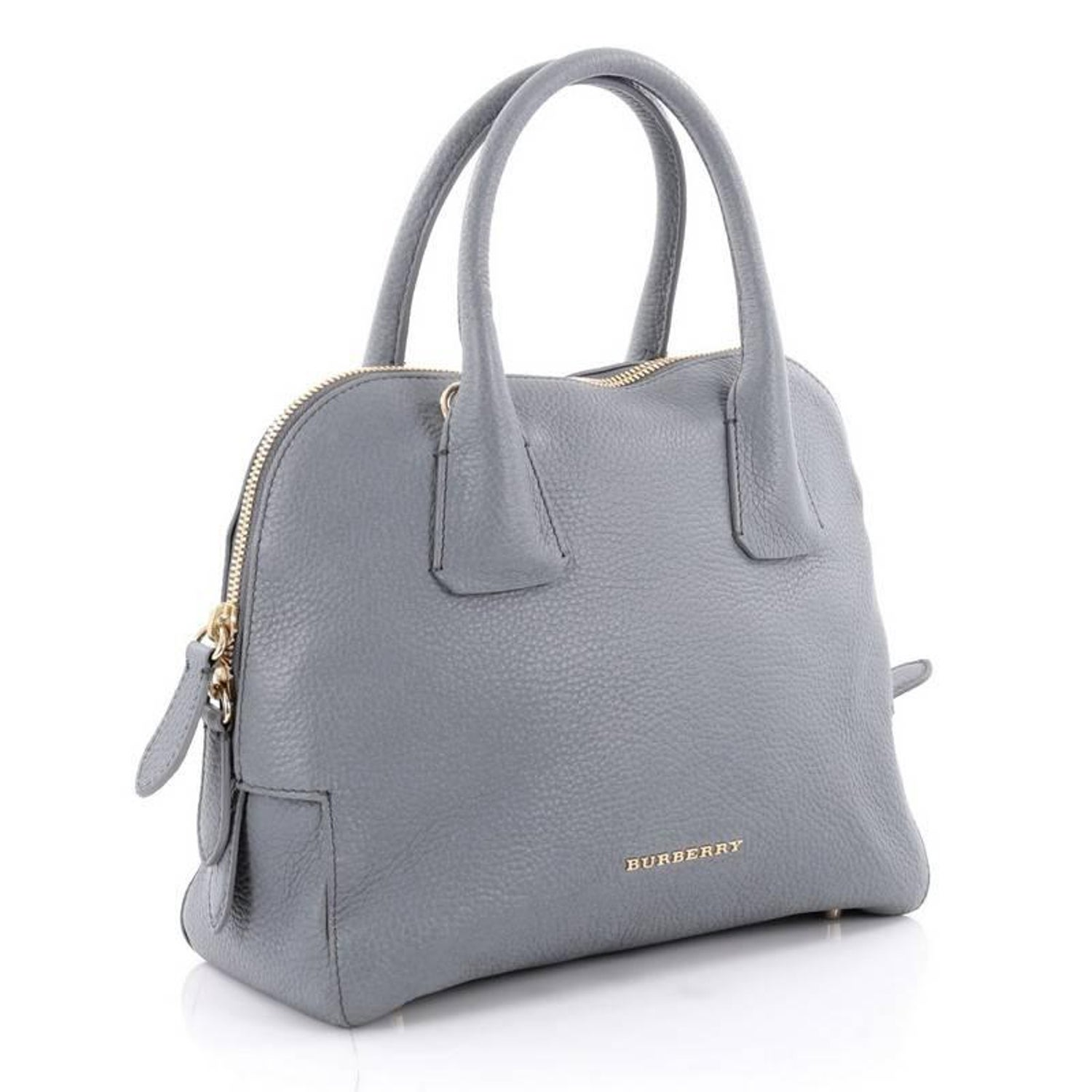 d7ed8ba2617c Burberry Greenwood Bowling Bag Grainy Leather Small at 1stdibs