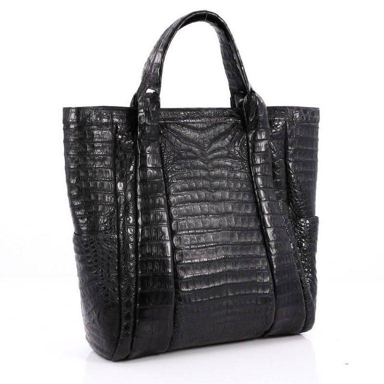 Black Nancy Gonzalez Tote Crocodile Large For Sale