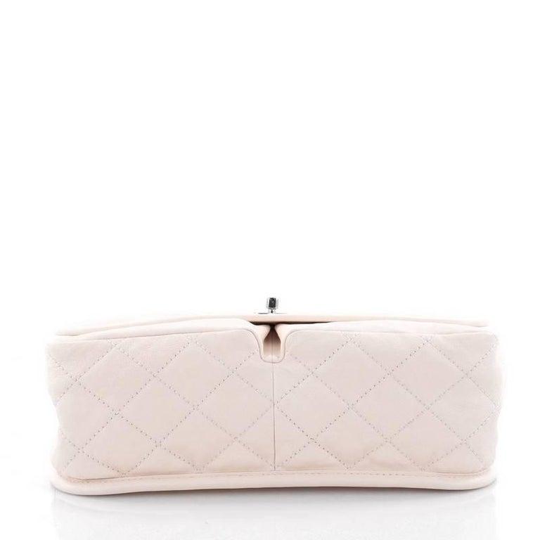 ce13ec3fb62e Women s Chanel Natural Beauty Split Pocket Flap Bag Quilted Leather Medium  For Sale
