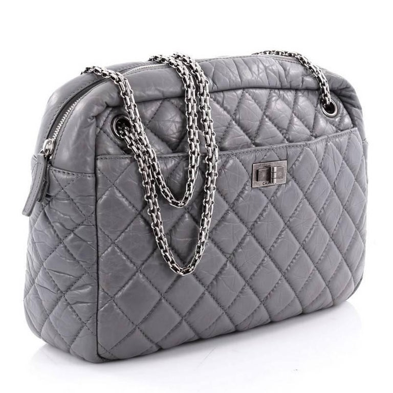 00d7393622d24b Gray Chanel Reissue Camera Bag Quilted Aged Calfskin Large For Sale