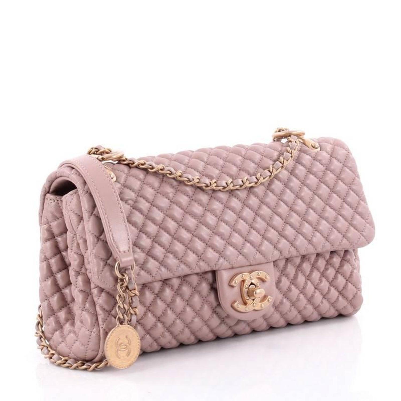 7c93899a0def Chanel Medallion Charm CC Flap Bag Micro Quilted Calfskin Medium at 1stdibs