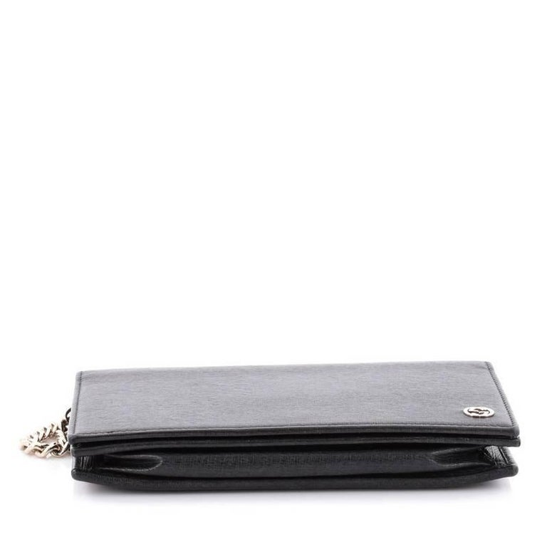 853405e4c8a Gucci Betty Leather Chain Wallet Black - Image Of Wallet