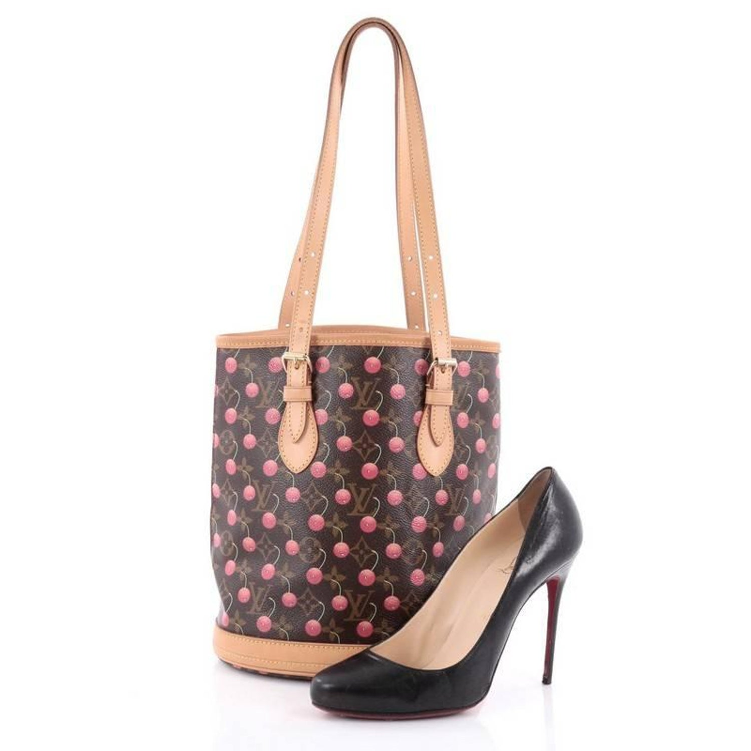31692360f6cc Louis Vuitton Bucket Bag Limited Edition Cerises at 1stdibs