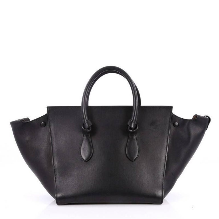 Celine Tie Knot Tote Smooth Leather Small In Good Condition For New York