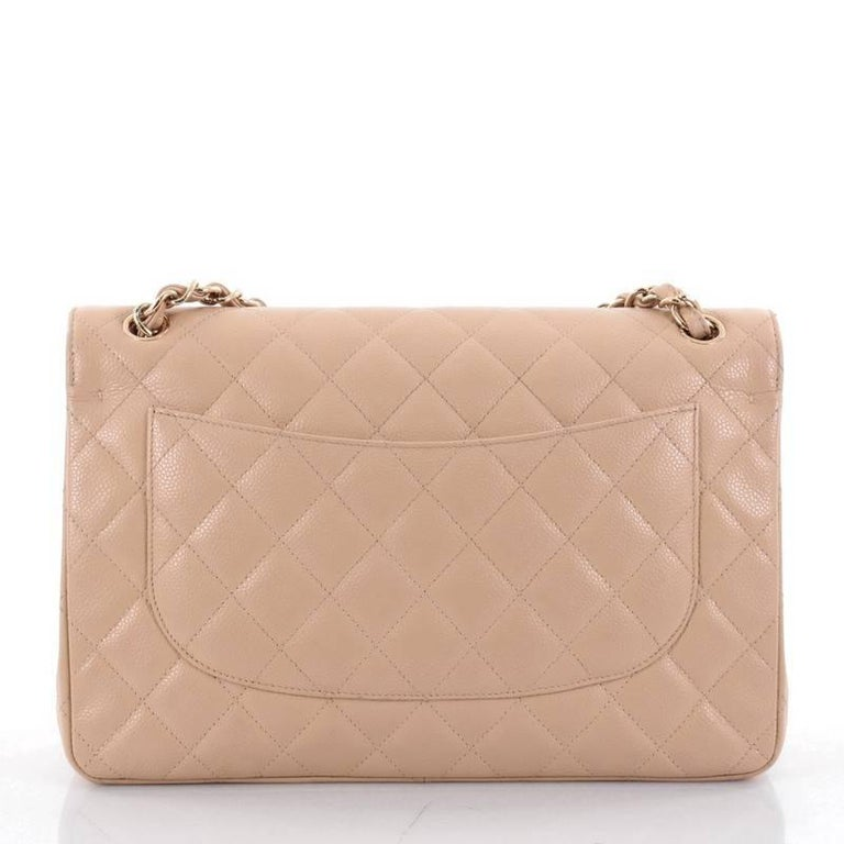 Chanel Classic Double Flap Bag Quilted Caviar Jumbo 4