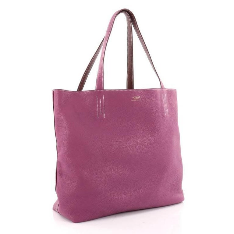 c1e307c14cd9 Pink Hermes Double Sens Tote Clemence 36 Bag For Sale