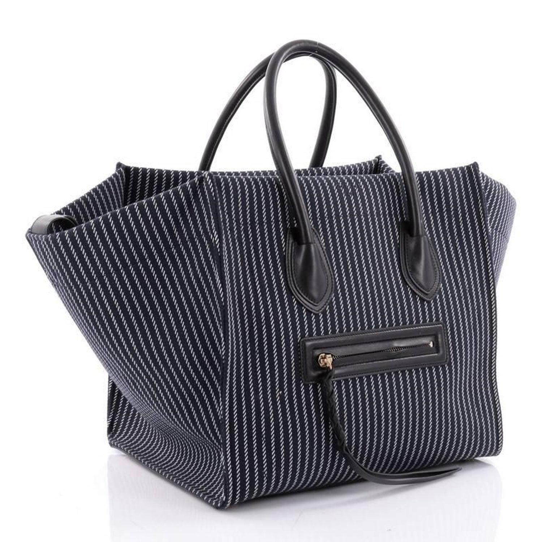 2f89686ba404 Celine Phantom Handbag Striped Canvas and Leather Medium at 1stdibs