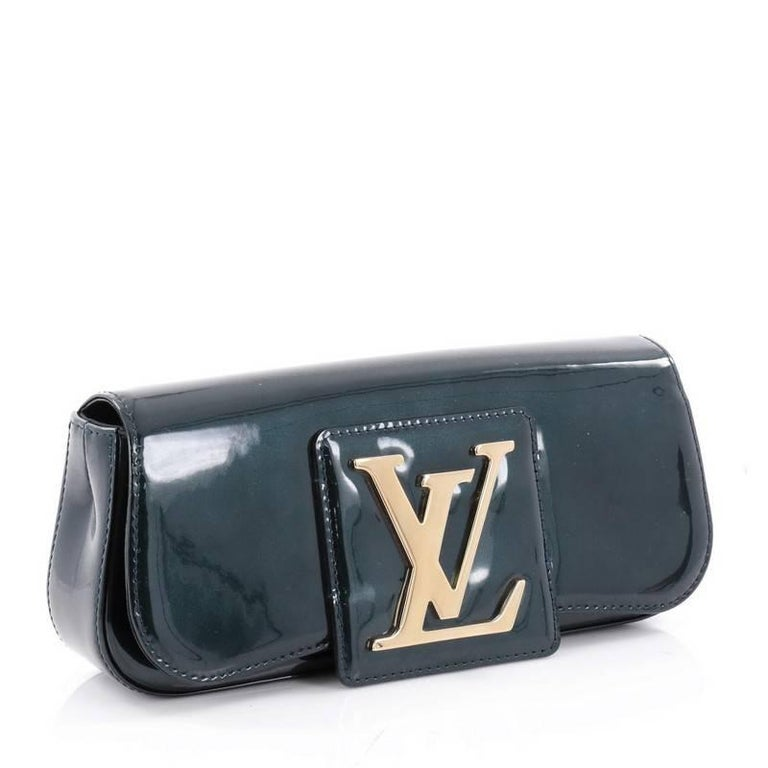 Black Louis Vuitton Sobe Patent Leather Clutch Bag For