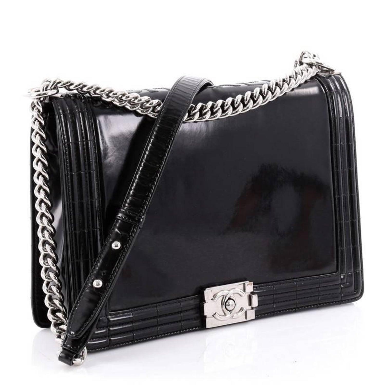 700e6fb13403 Chanel Reverso Boy Flap Bag Glazed Calfskin Large at 1stdibs