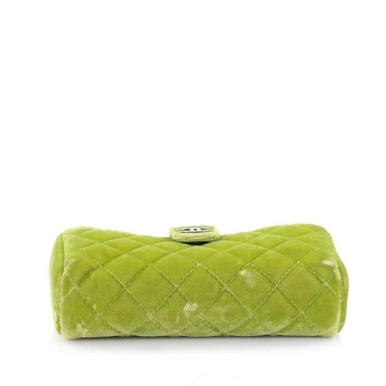 43bed02b5072 Women's Chanel Chain Phone Holder Crossbody Bag Quilted Velvet Mini For Sale