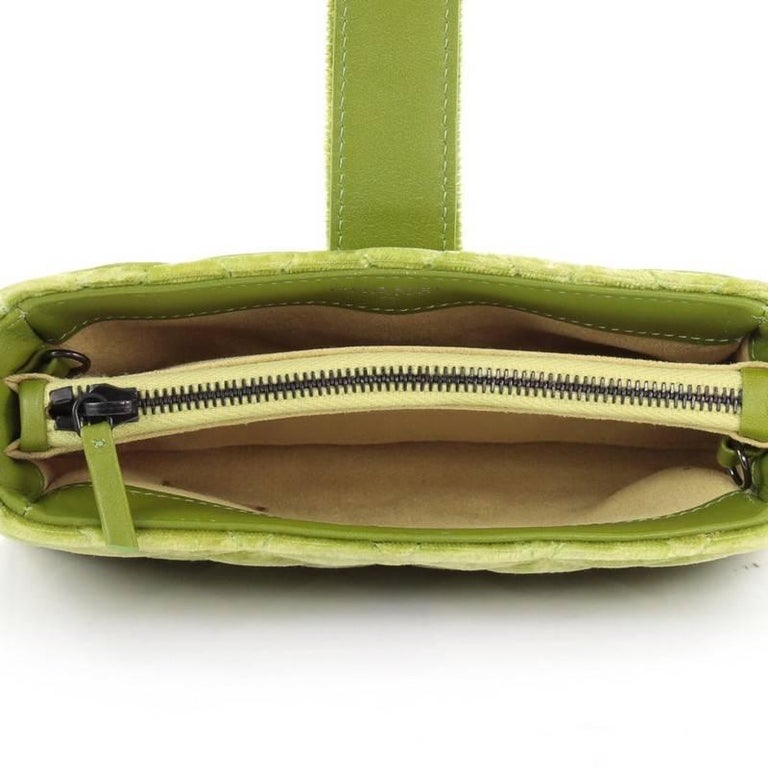 bd50d90ad154 Chanel Chain Phone Holder Crossbody Bag Quilted Velvet Mini For Sale 1