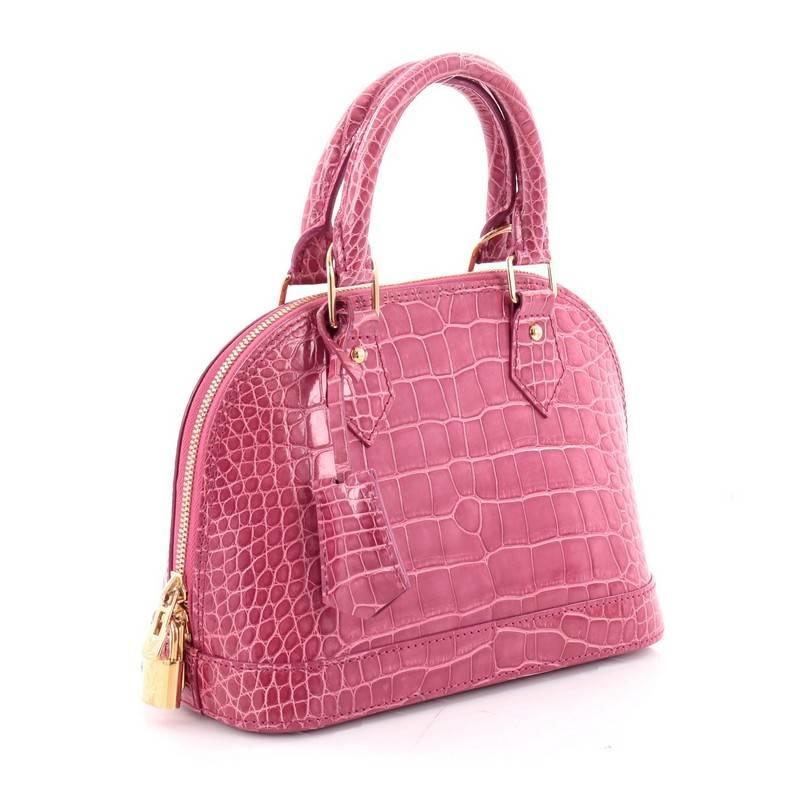 2170547dbcfb Louis vuitton alma handbag crocodile at stdibs jpg 800x800 Louis vuitton  crocodile bag