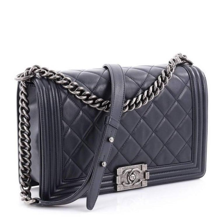 Black Chanel Boy Flap Bag Quilted Calfskin New Medium For Sale 8f33c090ef