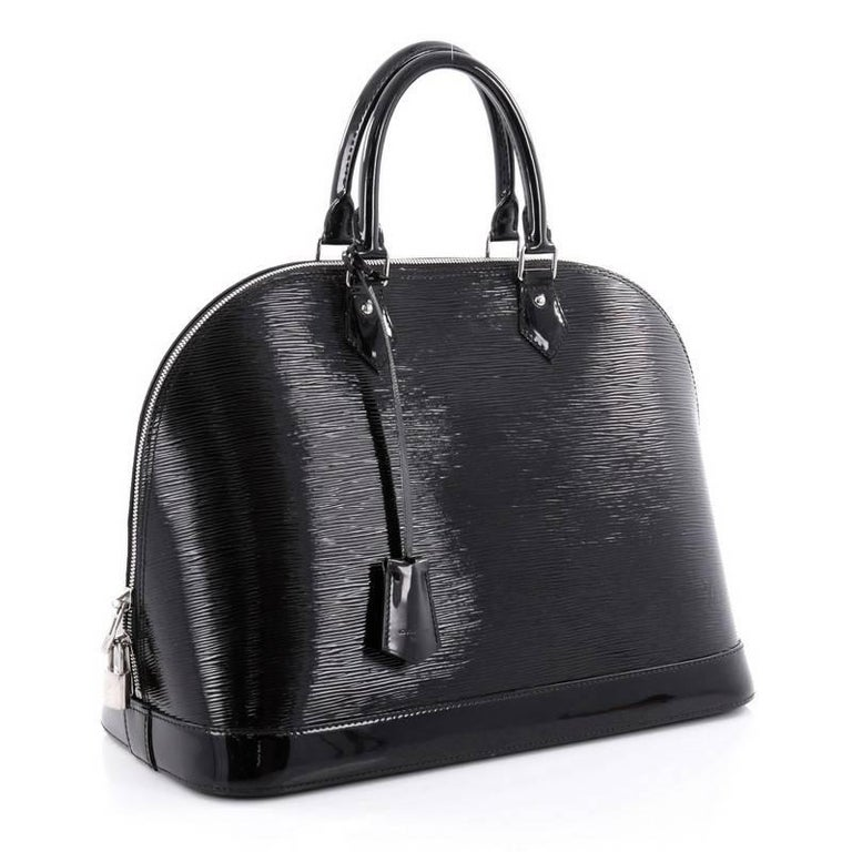 Black Louis Vuitton Alma Handbag Electric Epi Leather GM For Sale 147ed2f6bd2cd