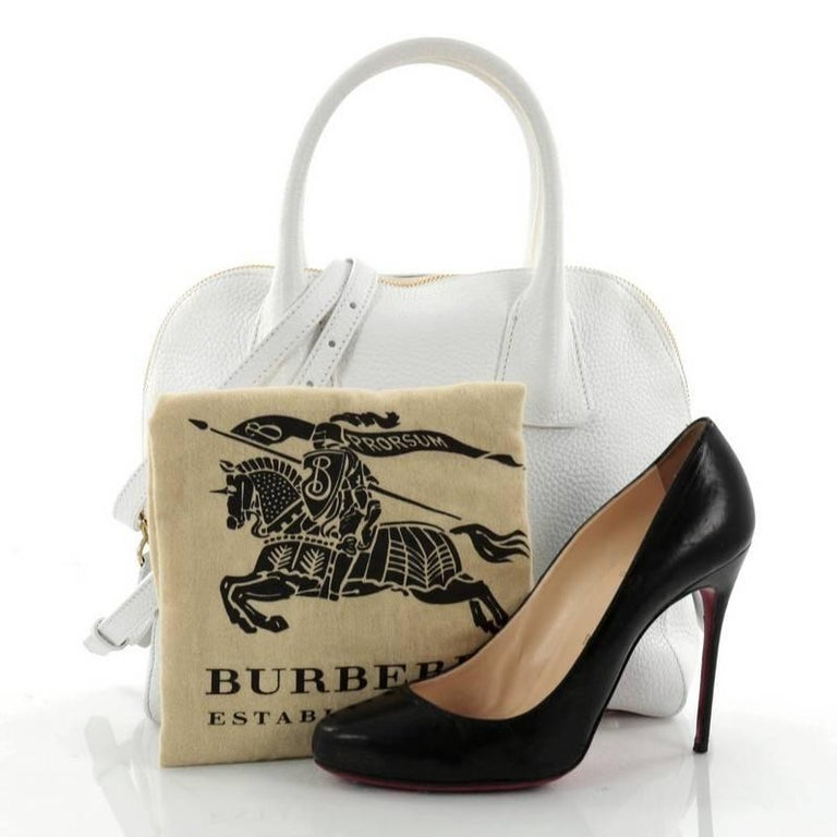 81ff325f71 This authentic Burberry Greenwood Bowling Bag Grainy Leather Small is  luxurious and classic in design ideal