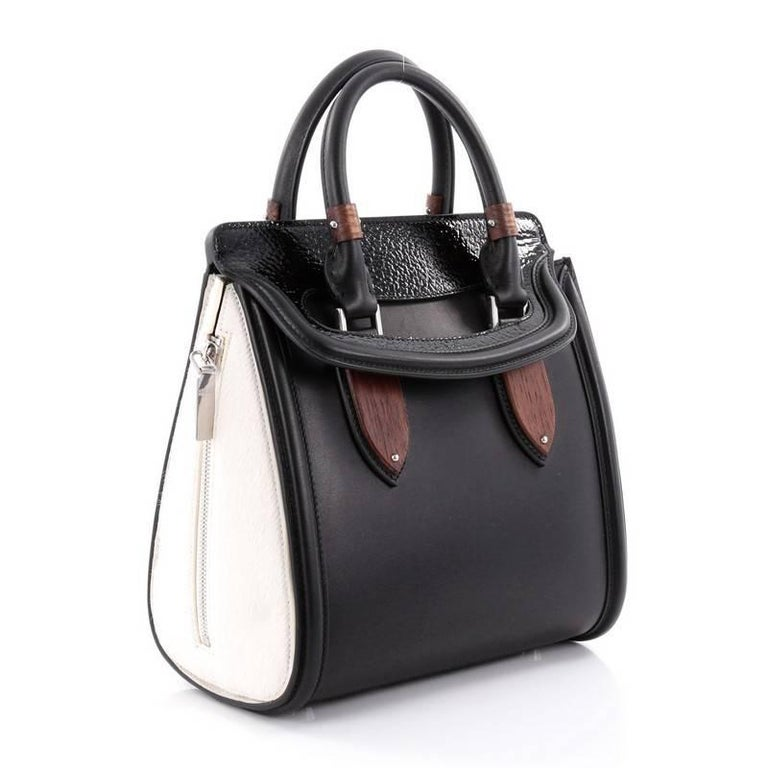 Alexander McQueen Wood Plate Heroine Tote Leather with ...