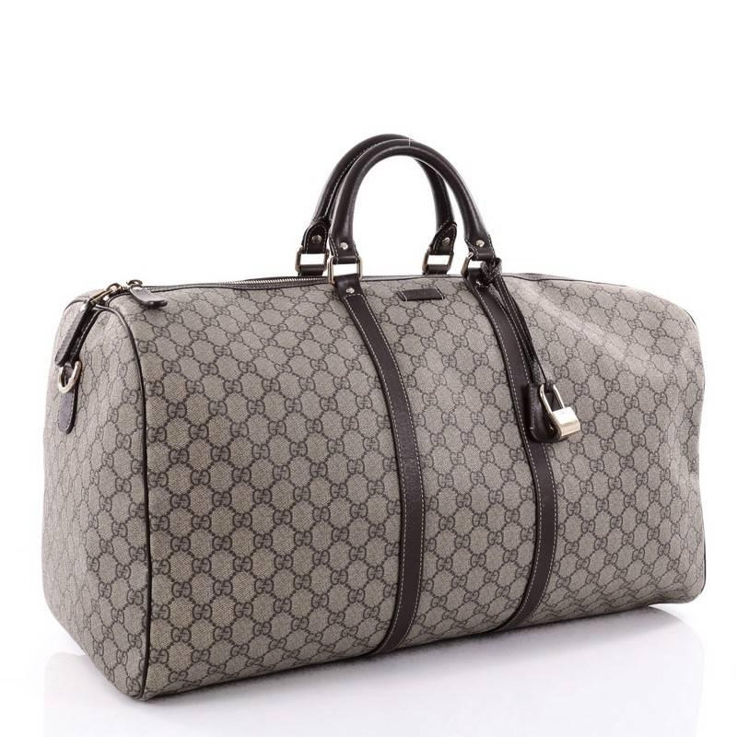 2a181ff2347c Gucci Carry On Convertible Duffle Bag GG Coated Canvas Medium at 1stdibs