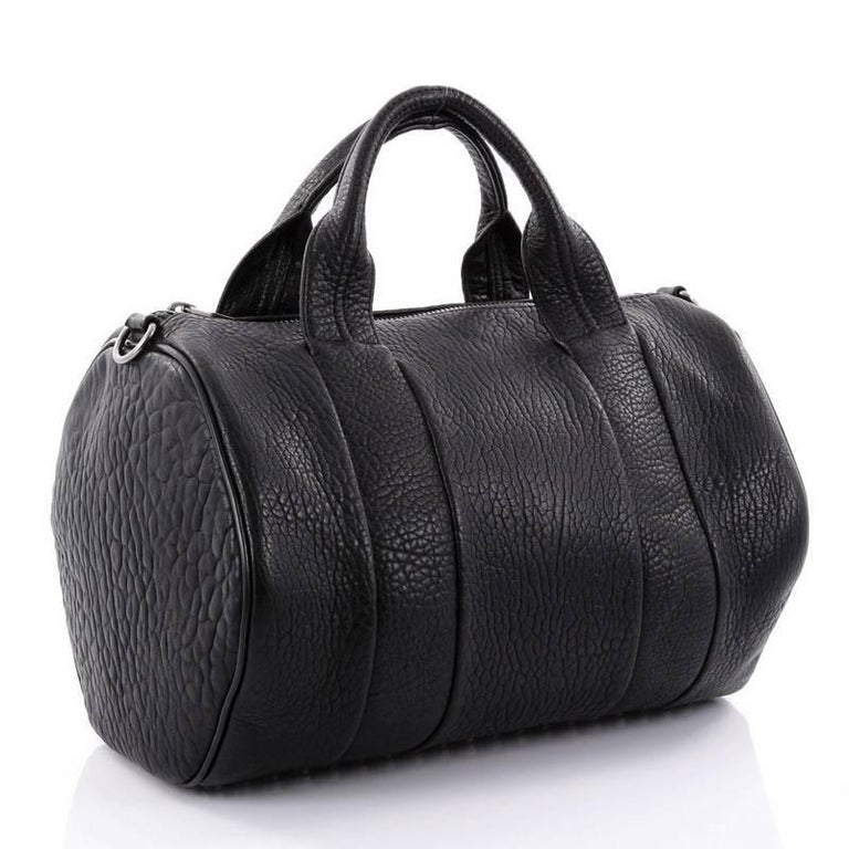 Black Alexander Wang Rocco Satchel Leather