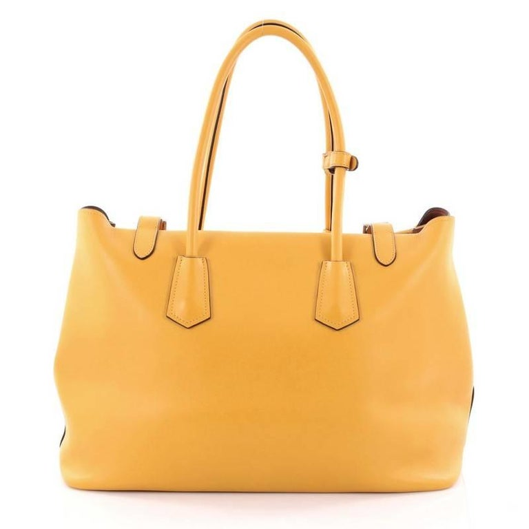 9fdf7c7f28f Prada Buckle Tote City Calfskin Large In Good Condition For Sale In New  York