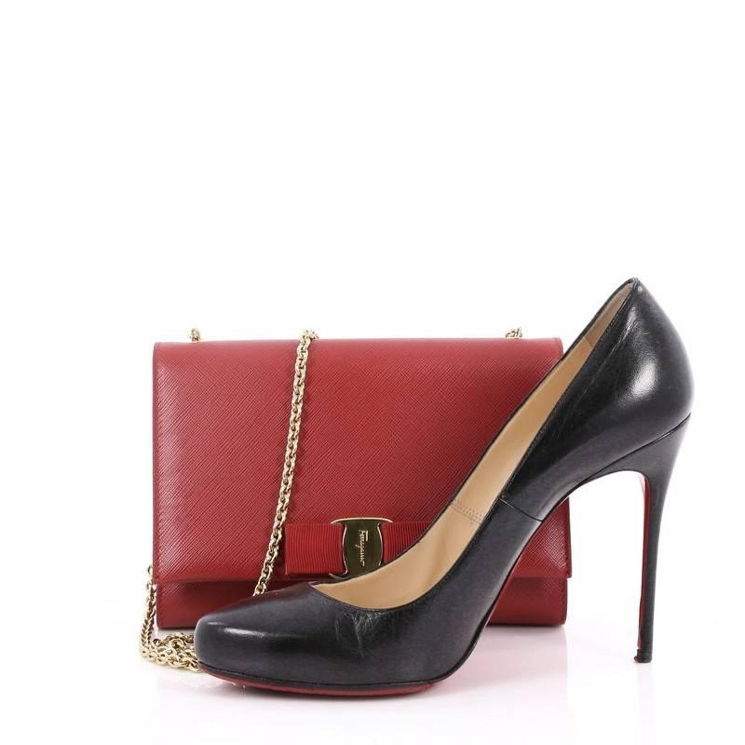 d3b9da535613 Salvatore Ferragamo Ginny Crossbody Bag Saffiano Leather Small at 1stdibs