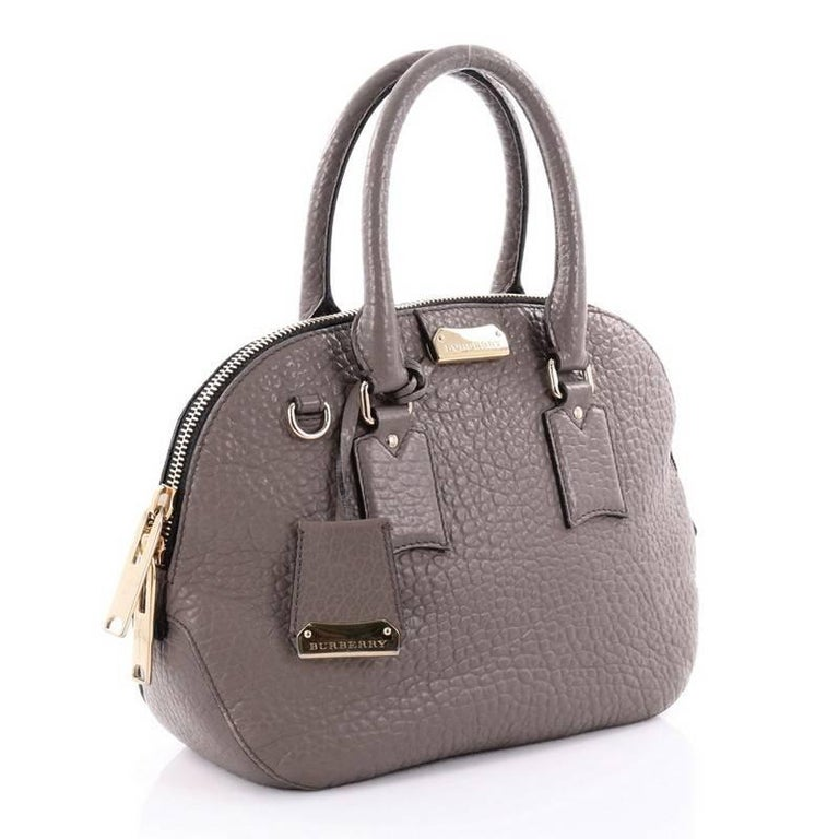 99e70a4501ac Gray Burberry Orchard Bag Heritage Grained Leather Small For Sale