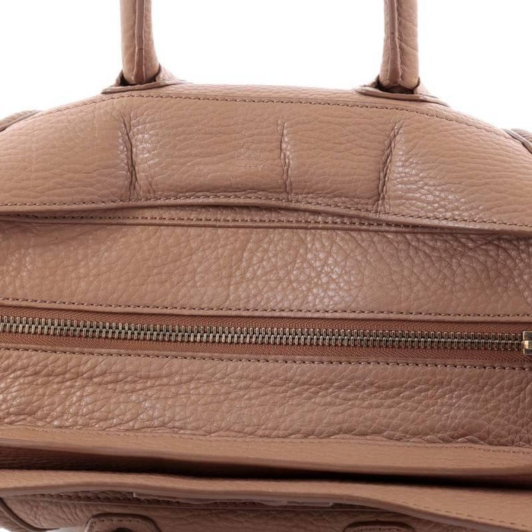 Celine Luggage Handbag Grainy Leather Mini 7