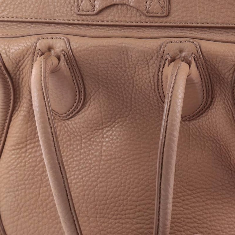 Celine Luggage Handbag Grainy Leather Mini 6