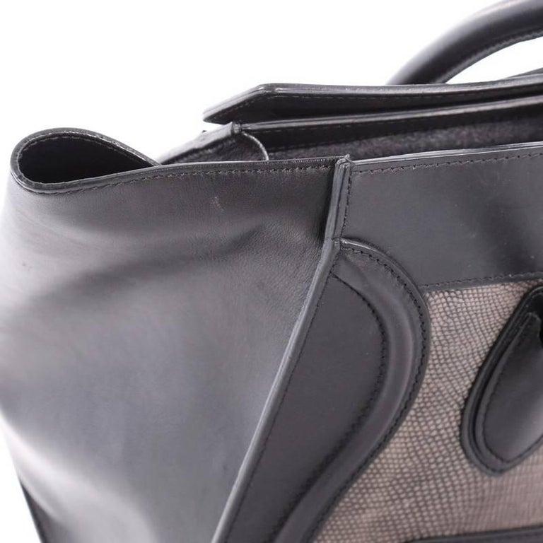 Celine Luggage Handbag Lizard and Leather Mini For Sale 3