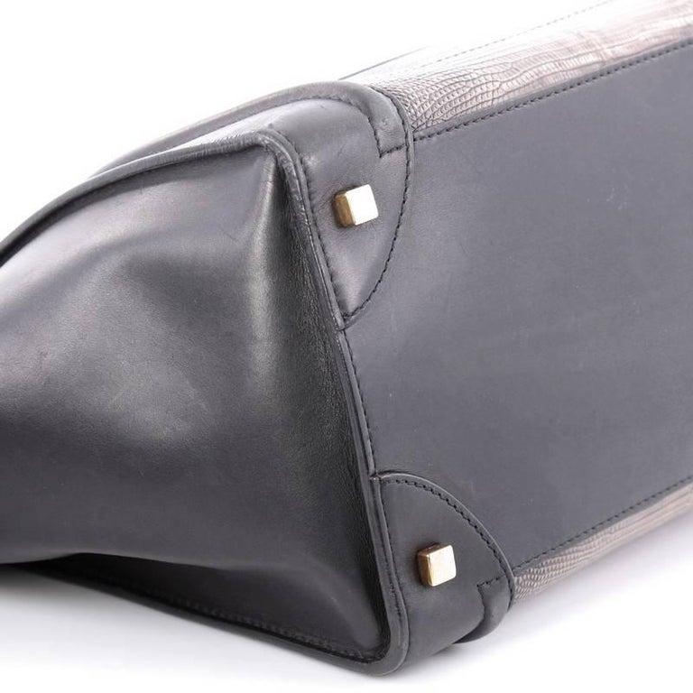 Celine Luggage Handbag Lizard and Leather Mini For Sale 1