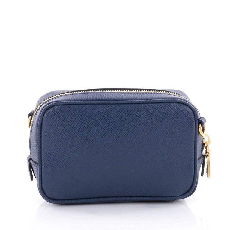 ed0a34ccd4dd Prada Zip Crossbody Bag Saffiano Leather Mini In Good Condition For Sale In  New York