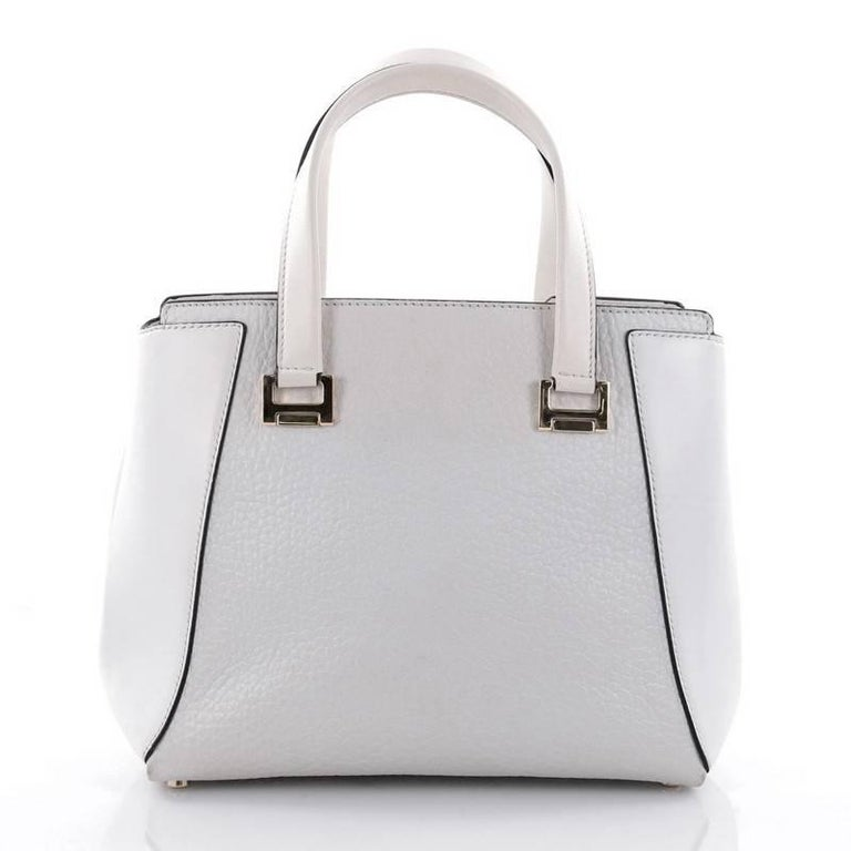 Jimmy Choo Alfie Handbag Leather Large In Good Condition For Sale In New York, NY