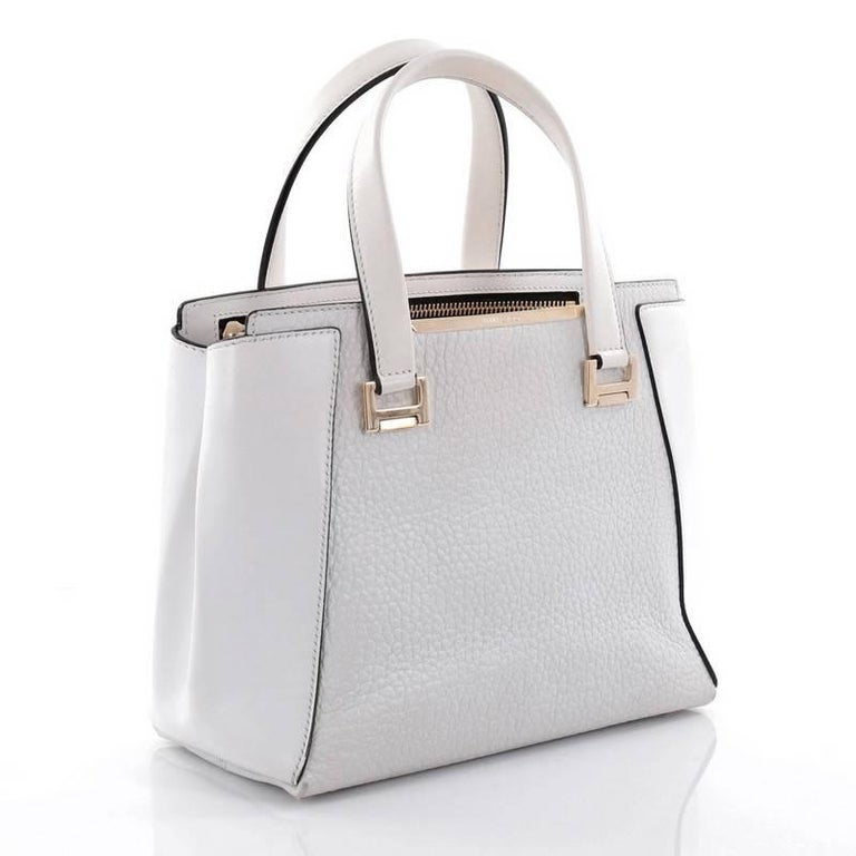 Gray Jimmy Choo Alfie Handbag Leather Large For Sale