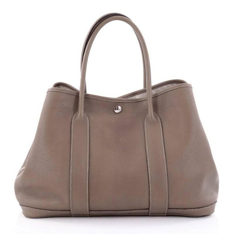 Hermes Garden Party Tote Leather 36 For Sale At 1stdibs