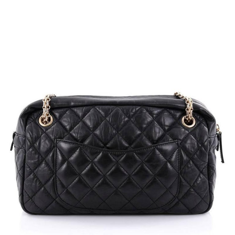 79686af23708 Chanel Reissue Camera Bag Quilted Aged Calfskin Medium In Good Condition  For Sale In New York
