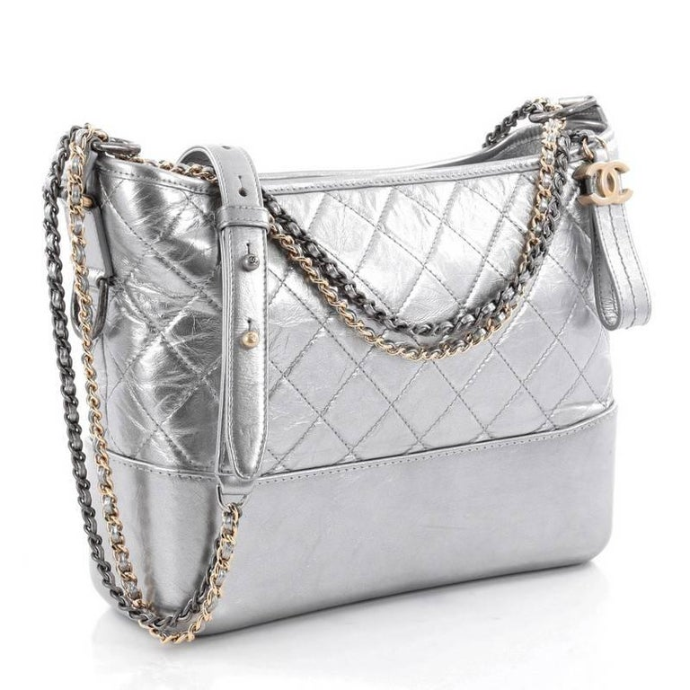 2c8c58e4f779 ... displays a luxurious design with timeless modernity. Gray Chanel  Gabrielle Hobo Quilted Aged Calfskin Medium For Sale
