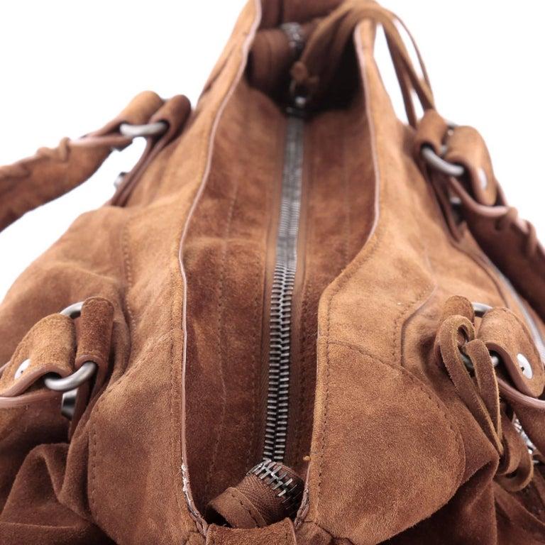 Balenciaga Baby Daim Velo Classic Studs Handbag Suede at