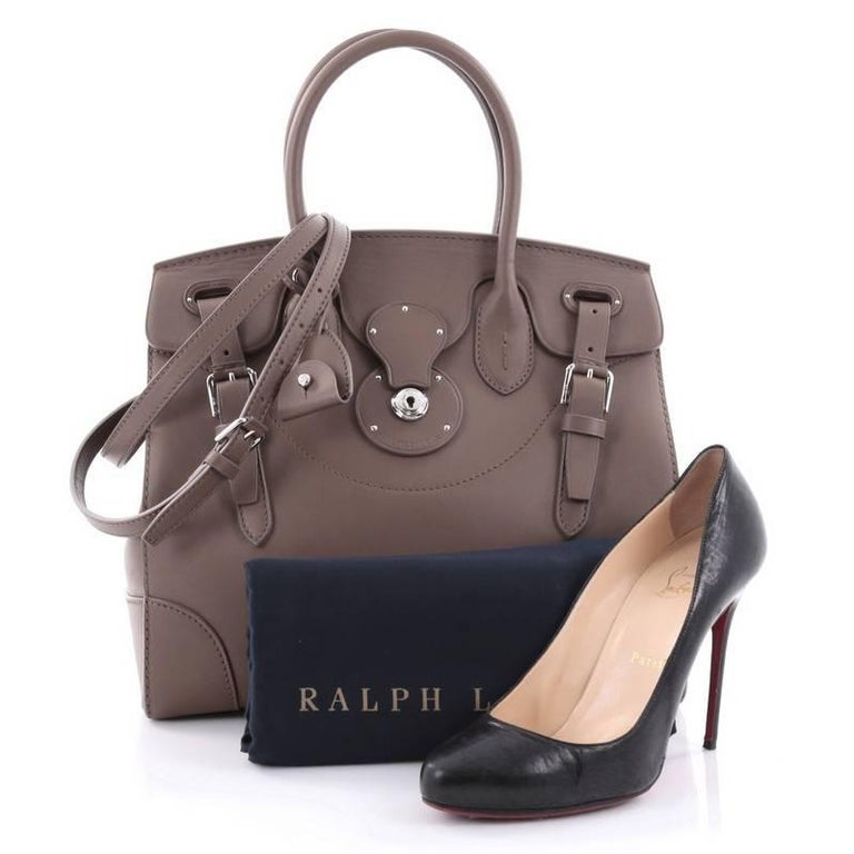 This Authentic Ralph Lauren Collection Soft Ricky Handbag Leather 33 Is One Of The Brand S Most