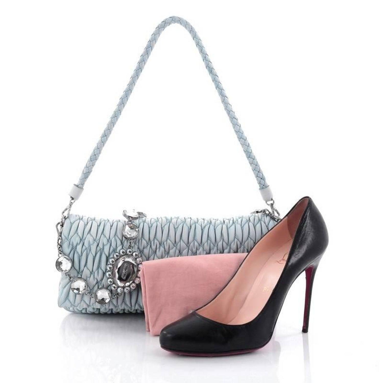 c41a6180ee90 Miu Miu Crystal Clutch Matelasse Leather Medium at 1stdibs