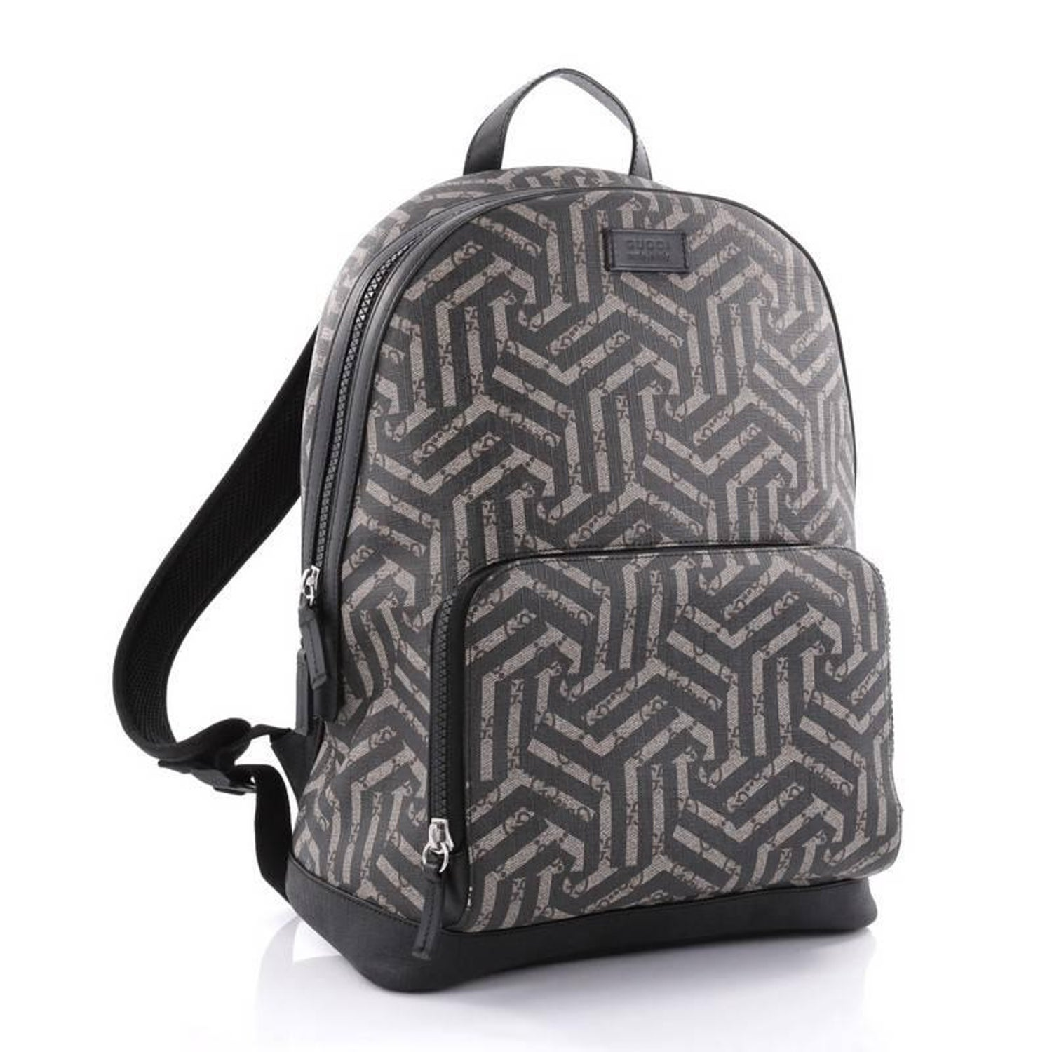 17110e1c61e Gucci Zip Pocket Backpack Caleido Print GG Coated Canvas Medium at 1stdibs