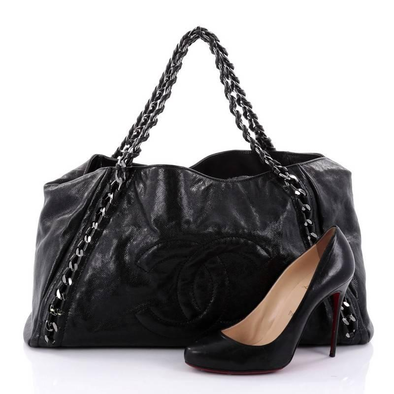 79f95dc6b8e7 Chanel Modern Chain Tote Caviar East West at 1stdibs