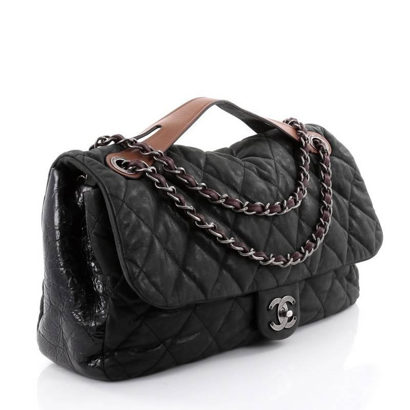 10137943ea3d26 Chanel In the Mix Flap Bag Quilted Iridescent Leather Jumbo at 1stdibs