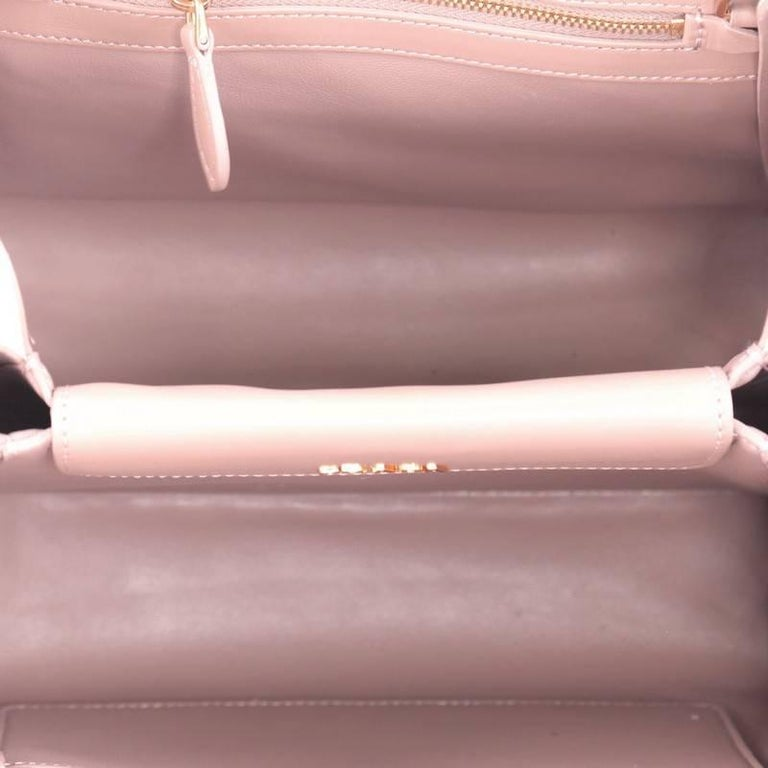 8f85f4d781b4 Prada Bibliotheque Handbag Saffiano Leather with City Calfskin Small For  Sale 1