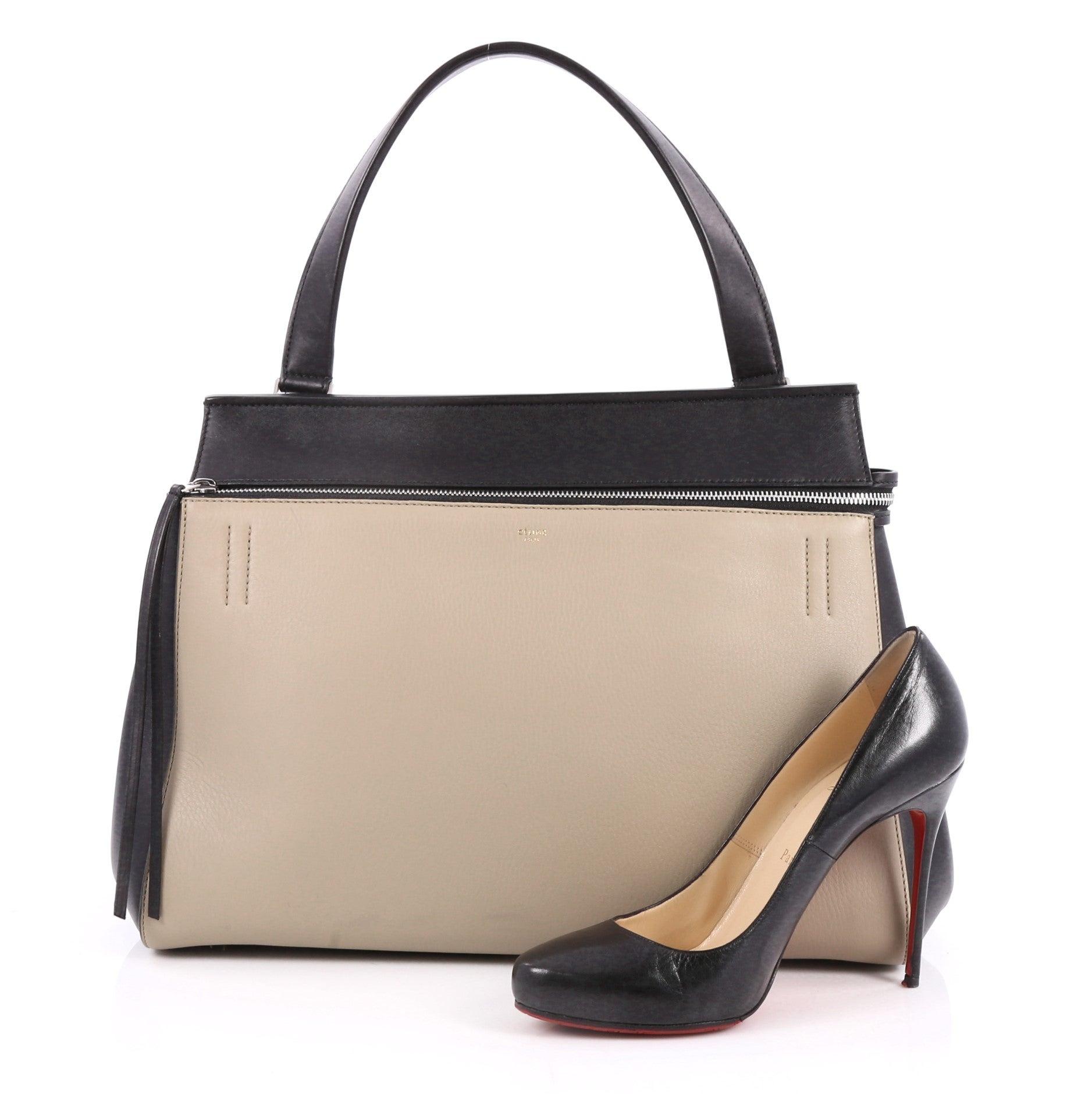 0ee00b36fda Celine Edge Bag Leather Large is the quintessential at 1stdibs