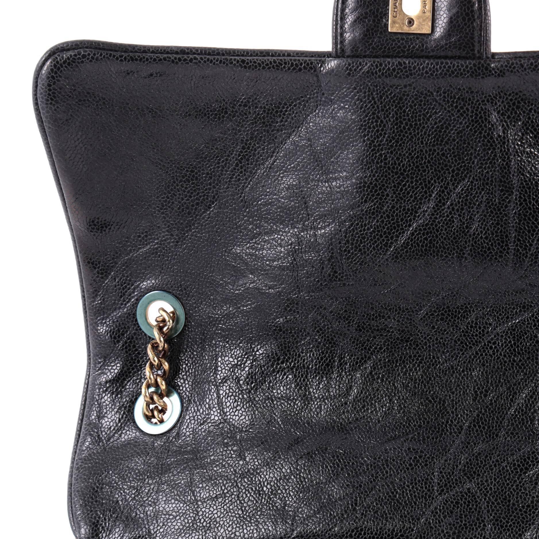 17b2b25ff14f Chanel Shiva Flap Bag Quilted Caviar Large at 1stdibs