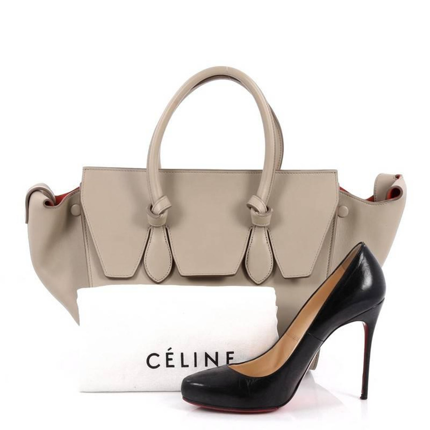 Celine Tie Knot Tote Smooth Leather Mini at 1stdibs 607927a05b