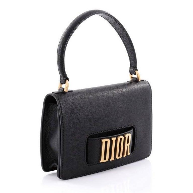 Christian Dior Dio(r)evolution Top Handle Flap Bag Leather ...