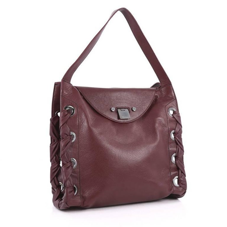 Brown Jimmy Choo Rion Tote Leather For Sale