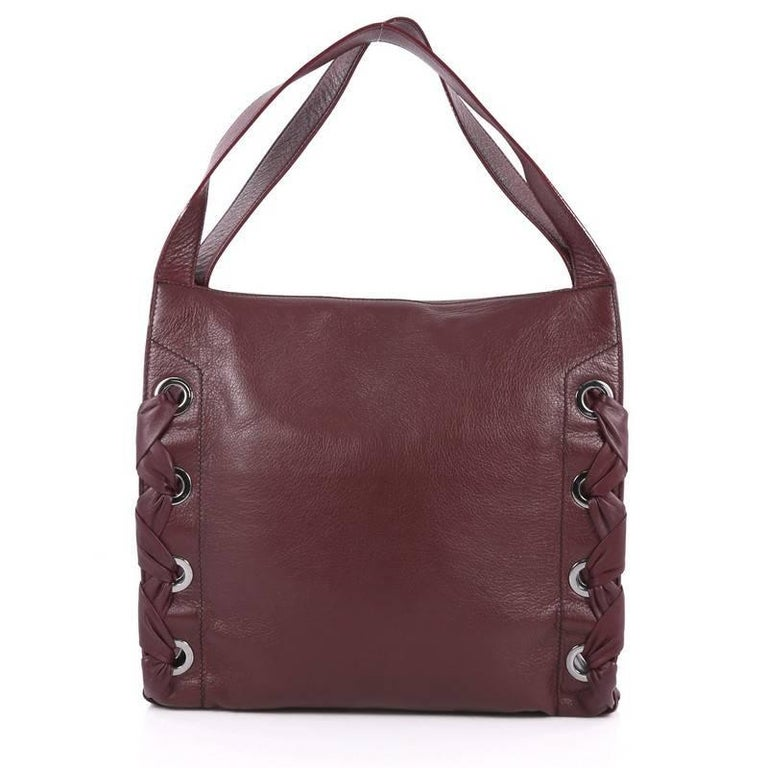 Jimmy Choo Rion Tote Leather In Good Condition For Sale In New York, NY