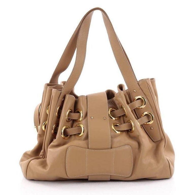 Jimmy Choo Ramona Hobo Leather In Good Condition For Sale In New York, NY
