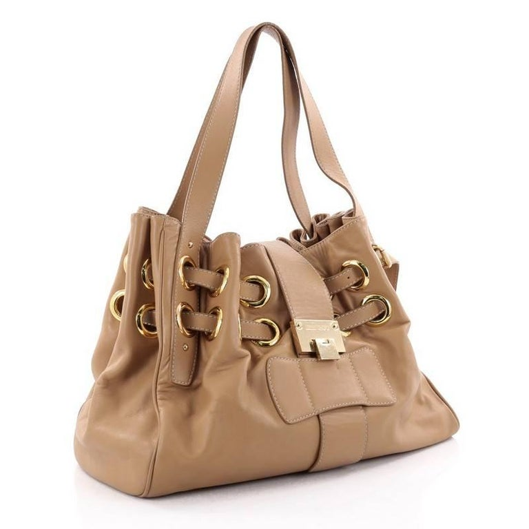 Brown Jimmy Choo Ramona Hobo Leather For Sale